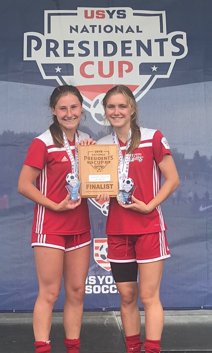 Ana Naylor and Tess Durfee named to the All-11 President's Cup Team.